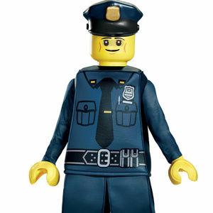Lego Police Officer Cop Prestige Child Costume